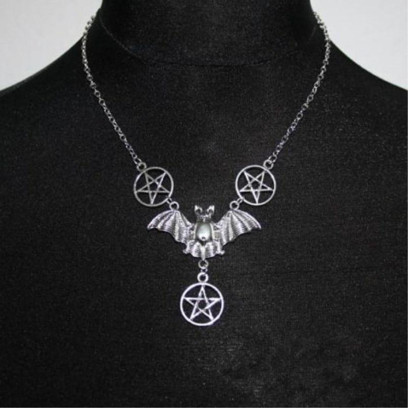 1 Pcs Bats Pentagram necklace, Gothic, Gifts for Girlsintothea-intothea