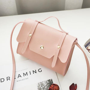 Small Soft Sweet Candy Macarons Color PU Leather Clamshell Shoulder Portable Handbagintothea-intothea