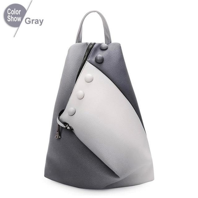 Fashion Women Backpack 2018 PU Leather School Bags For Teenager Girls Youngintothea-intothea