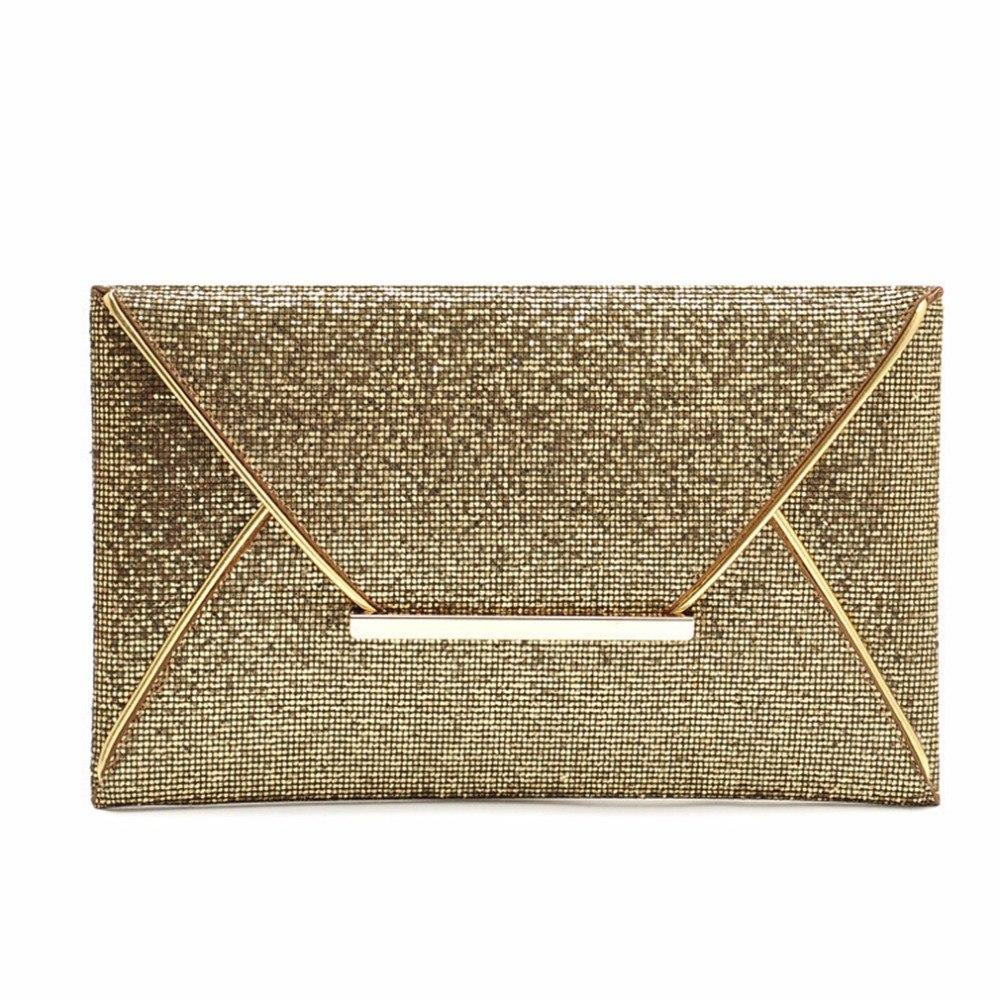 Women Envelope Sparkle Bling Day Clutch Bags Evening Party Handbag Day Clutchesintothea-intothea