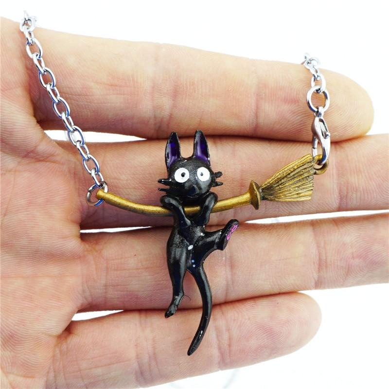 Kiki's Delivery Service JiJi Necklace Black Cat Pendant Japan Anime Cute Cosplayintothea-intothea