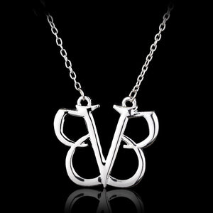 dongsheng 2017 Rock Band Black Veil Brides Pendant Necklace BVB Logo Punkintothea-intothea