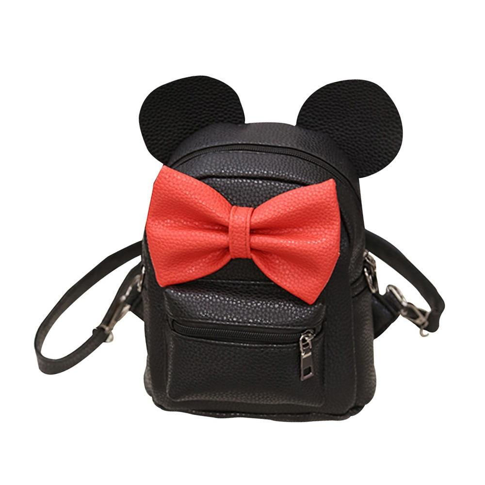 2018 New Arrival Women Mickey Backpack Female Cute Mini Bag Backpack Studentintothea-intothea