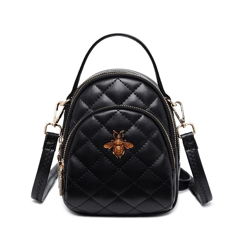 Fashion Mini Backpacks For Women Diamond Lattice Pu Leather Backpack Girls Beeintothea-intothea