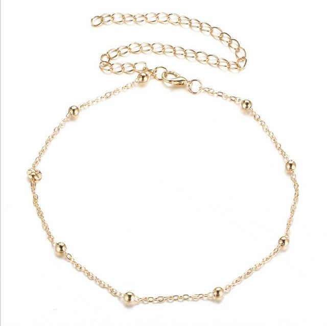 New Fashion Simple Copper Beads Necklace, r Necklace Chain Necklacesintothea-intothea