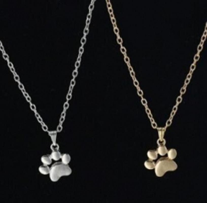 2018 Hot Fashion Cute Pets Dogs Footprints Paw Chain Pendant Necklace Necklacesintothea-intothea