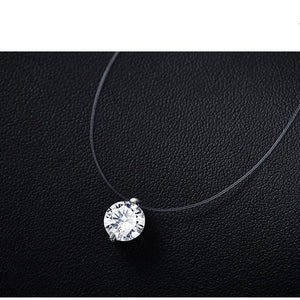 Women's Transparent Fishing Line Chain and Necklace Silver Invisible Chain Chain andintothea-intothea