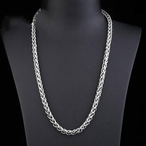 Brand Men Necklace Silver Color 2018 New Arrivals Flat Chains Necklaceintothea-intothea