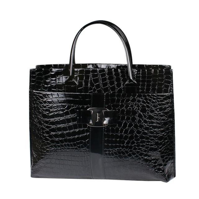 2017 Fashion Women Luxury OL Style Lady Handbag Women Crocodile Pattern PUintothea-intothea