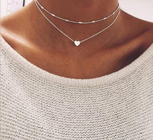 Vintage Punk Multi Layer Fish Bone Anchor Leaves Simulated Pearl Necklacesintothea-intothea
