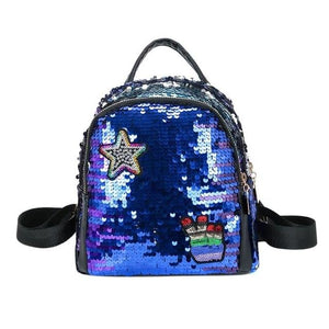 Mini Shining Sequins Backpack Teen Girls Mini Travel Shoulder Bags for Childrenintothea-intothea