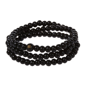 108 pcs 6*530mm Black Wood Buddha beads Long necklace Buddhism Strand Chainintothea-intothea