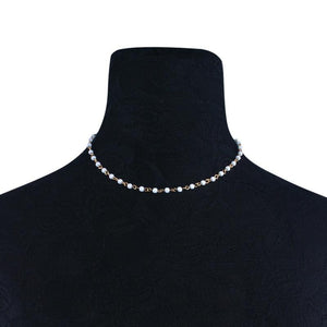 Vintage Simulated Pearl Link Chain Choker Necklace for Women Neck Collar Fashionintothea-intothea