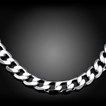 925 Silver Men Figaro Chain Necklace For Men Silver 925intothea-intothea