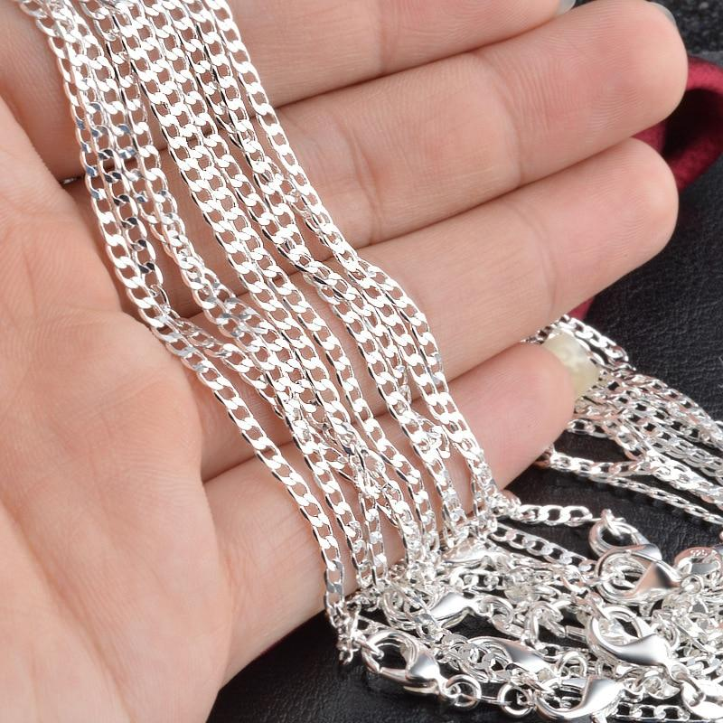 925 Silver Chains 2mm Width Link Chain Necklace for Men Women Fashionintothea-intothea