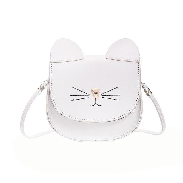 Embroidery Cat Mini Shoulder Bags for Girls Messenger Bags Princess Style Kidsintothea-intothea