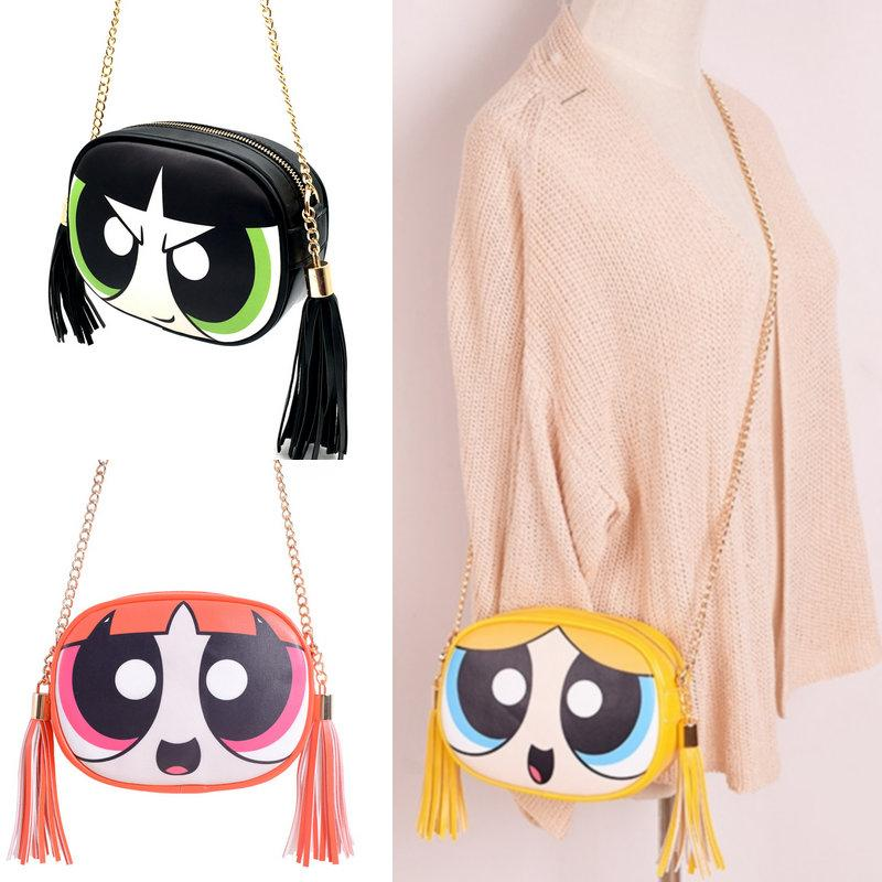 Powerpuff Girls cute fashion design and good quality chain shoulder bag messengerintothea-intothea