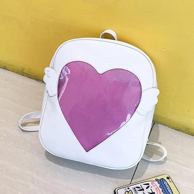 Love Clear Transparent Itabag Backpack For Girls Cute Travel Bagpacks School Bagsintothea-intothea