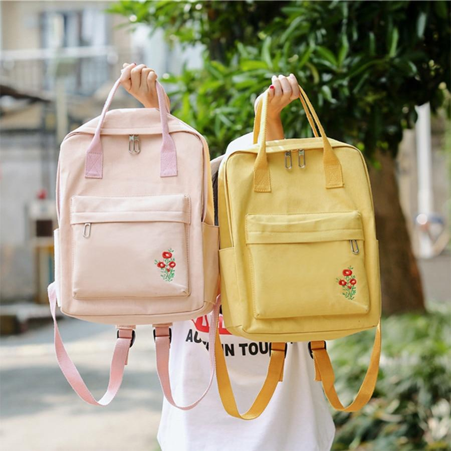 Preppy Women Backpacks for School Teen Girls Stylish Women School Bag Canvasintothea-intothea