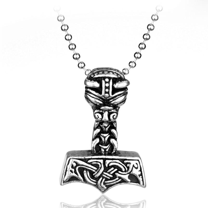 Hot Sale Greek Mythology Thor The Dark World Hammer Pendant Necklace Gothicintothea-intothea