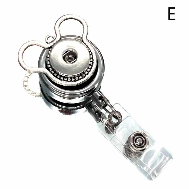 Fit 18mm Snap Button Retractable Pull Badge Reel ID Lanyard Name Tagintothea-intothea