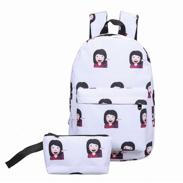 Women Emoji Shoulder Bag Leisure Best Travel School Bag For Teenagersintothea-intothea