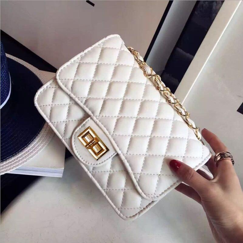 Luxury Handbags Women Bags Designer 2018 Vintage PU Leather Chain Messenger Clutchintothea-intothea