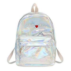 Mini Travel Bags Silver Blue Pink Laser Backpack Women Girls Bag PUintothea-intothea