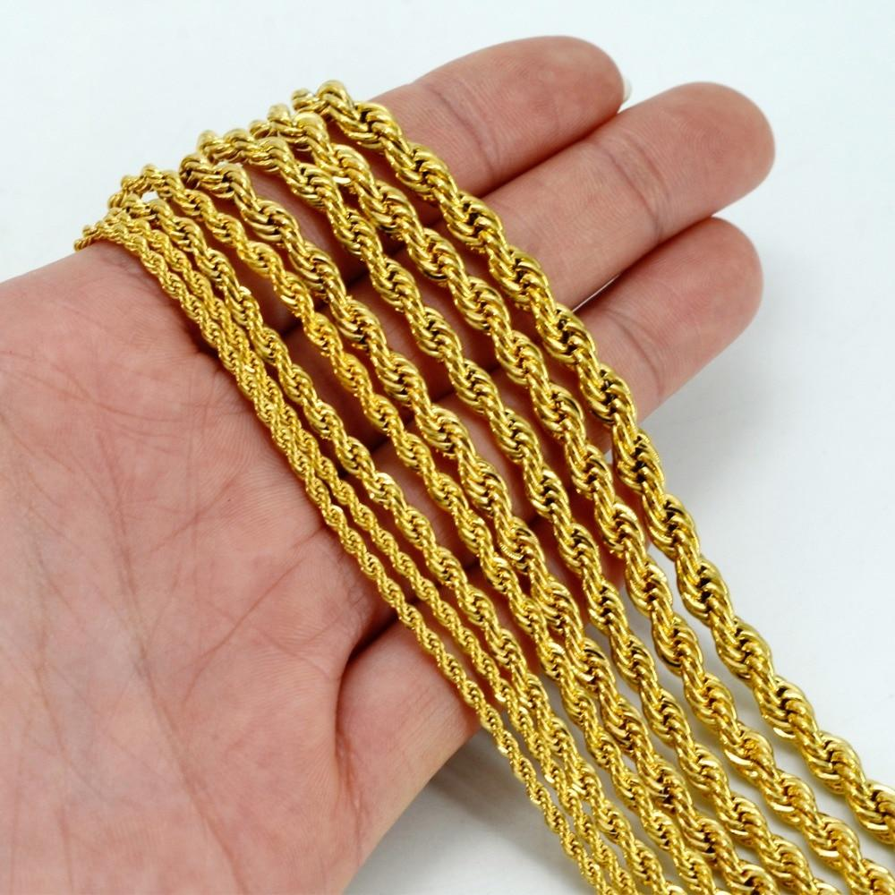 Anniyo ONLY ONE PIECE,Men Gold Necklace,50CM/60CM Chain for Women,Gold Color Africa Jewelry,Arabintothea-intothea