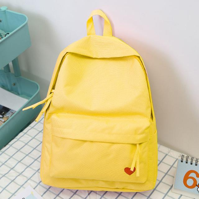 2018 New Korean High School Student Schoolbag Female Black Yellow Canvas Backpackintothea-intothea