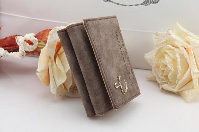Women Wallet 2017 Fashion portefeuille femme Button Clutch Purse Short Wallet Cardintothea-intothea