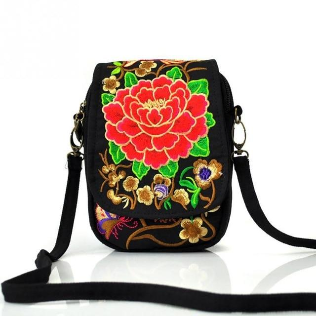 Vintage Ethnic Embroidery bag Embroidered canvas Women shoulder messenger bags Hmong Handmadeintothea-intothea