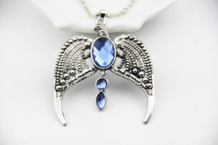 Fashion Jewelry Vintage Charm Potter Ravenclaw Eagle Crown Pendant Necklace Forintothea-intothea