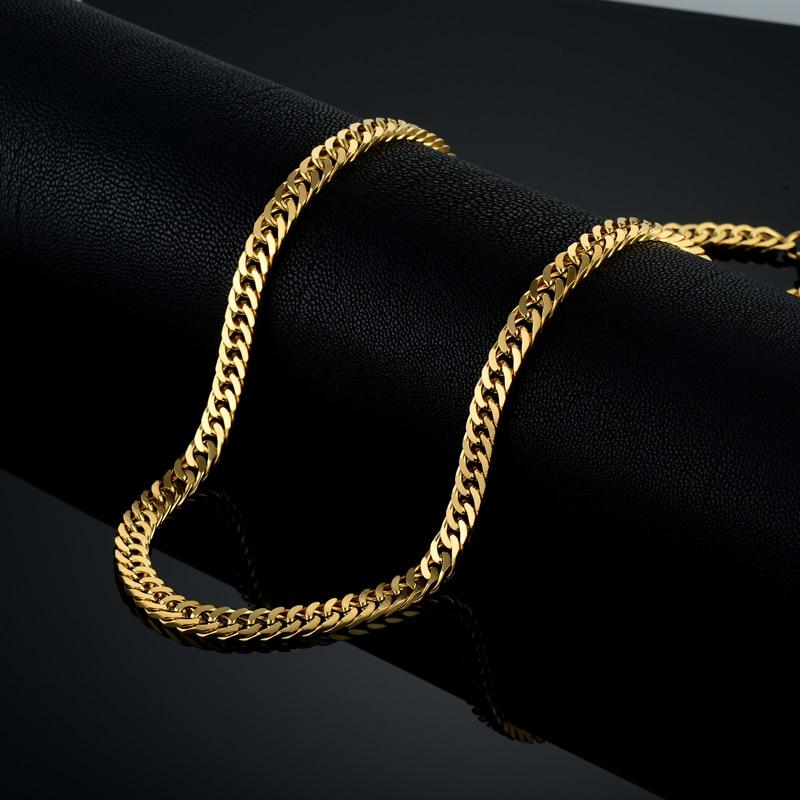 Vintage Long Gold Chain For Men Chain Necklace New Trendy Gold Colorintothea-intothea