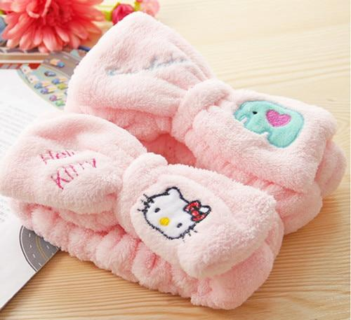 New Hello Kitty Wash Face Makeup Beauty Exercise Hair Cap yey-05intothea-intothea