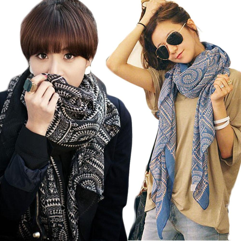#4522 Hot Lady Women Vintage Long Soft Printed Scarves Shawl Wrap Scarfintothea-intothea