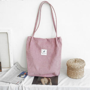 SNNY NEW Women Shopping Bags Ladies Corduroy+Cotton One Shoulder Bags Girls Schoolintothea-intothea