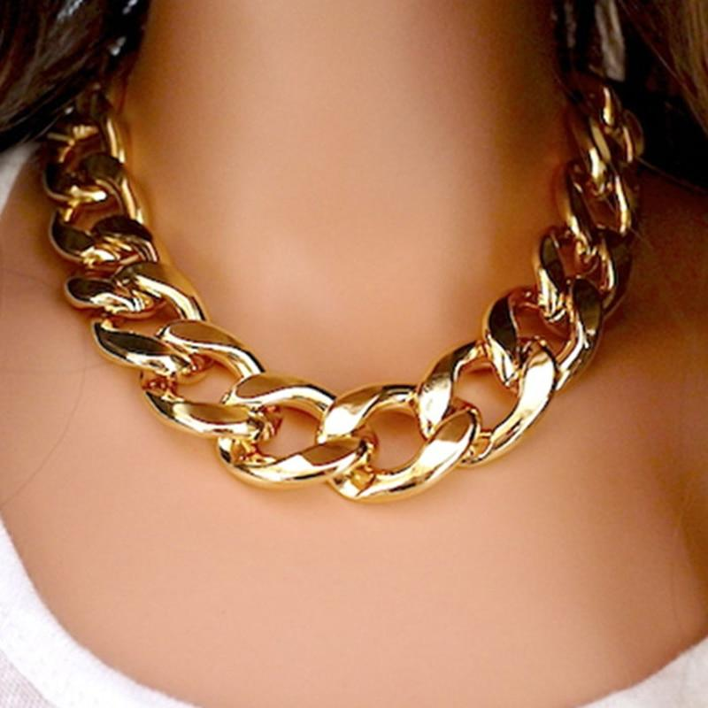 New Fashion Necklaces Thick Chain Statement Necklaces & Pendants Women Jewelry Wholesaleintothea-intothea