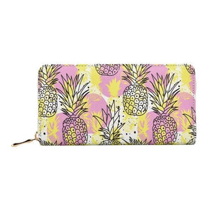 Colorfull Pineapple Printed Summer Women Long Wallet PU Leather Phone Pocket Ladiesintothea-intothea