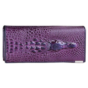 2018Women Wallet Female 2018 HOT Coin Purses Holders 3D Embossing Alligatorintothea-intothea