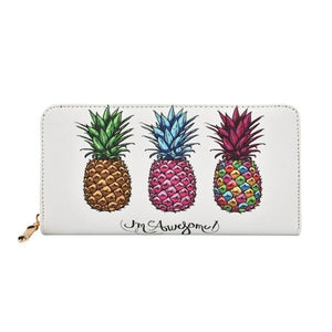 Long Women Pineapple Clutch Wallets PU Leather Large Capacity Card Holders Ladiesintothea-intothea