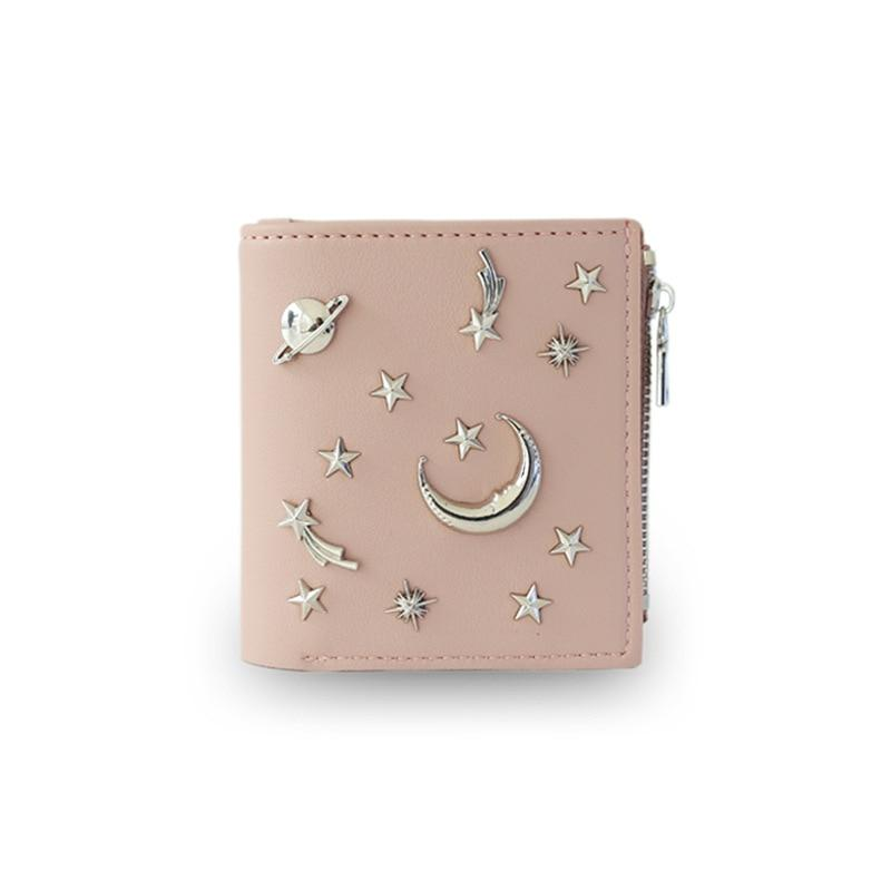 Women's 20% Simple Cross Pure Color Soft Star Star Wallet 2018 Newintothea-intothea