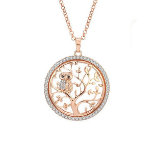 Owl Tree of Life Necklaces & Pendants Gold Chain Long Necklace Womenintothea-intothea