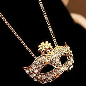 2018 New fashion lady retro style charm fox mask pendant necklace exquisiteintothea-intothea