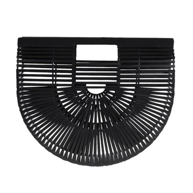 handbags women bamboo top handle bags female causal totes small hollowintothea-intothea
