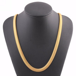 Mens Gold Filled Chain Necklaces Fashion Snake Chian Hiphop Necklace erkek kolyeintothea-intothea