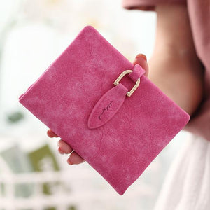 Wallet Women Purse Long Clutch Bag Female Frosted Retro Coin Wallets Luxuryintothea-intothea