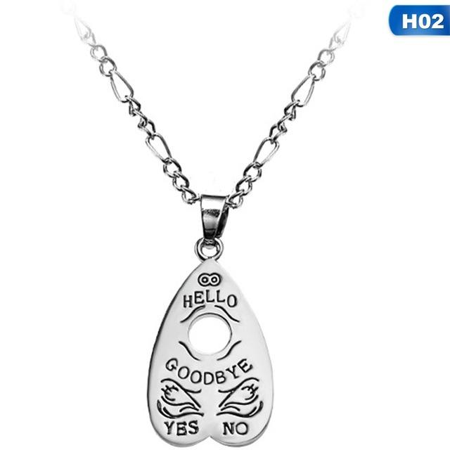 Ouija Necklaces Pendants Hollow Heart Necklace Women Mystifying Oracle Necklace Fashion Jewelryintothea-intothea