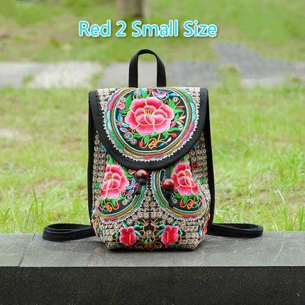 WALLIKE brand Lady New Embroidery Unique Nice School Bag Ethinic Travel Rucksackintothea-intothea