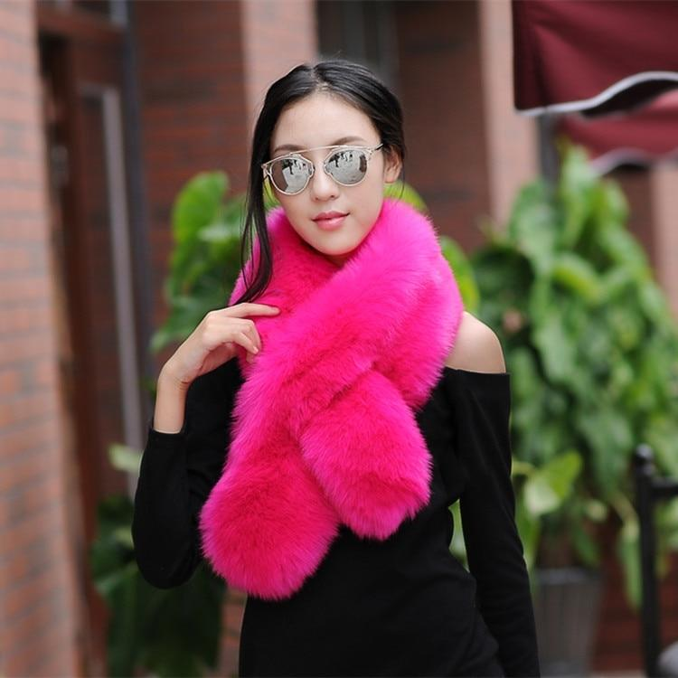 winter faux fur shawl warm collar long fur scarf women imitation furintothea-intothea